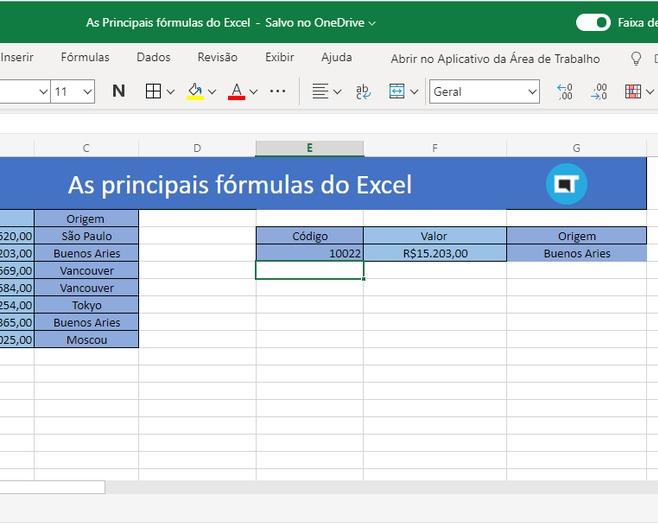 Saiba como utilizar as 3 principais fórmulas do Excel 3