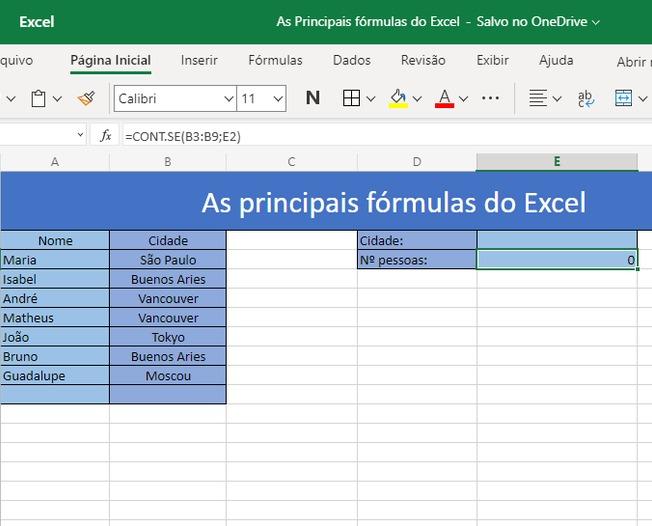 Saiba como utilizar as 3 principais fórmulas do Excel 8