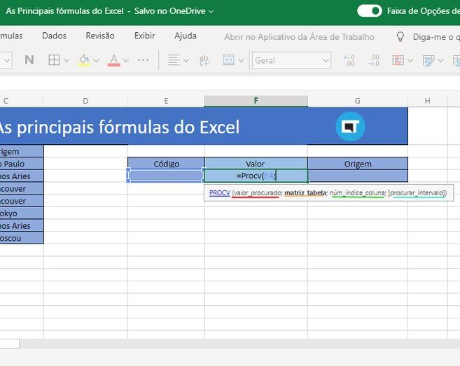Saiba como utilizar as 3 principais fórmulas do Excel 1